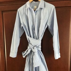 Gap shirt dress tie waist Med/Large